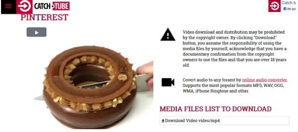 Como Baixar Vídeos do Pinterest com catch tube