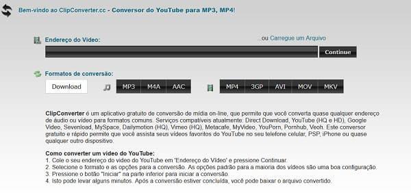 clipconverter _como converter vídeos online